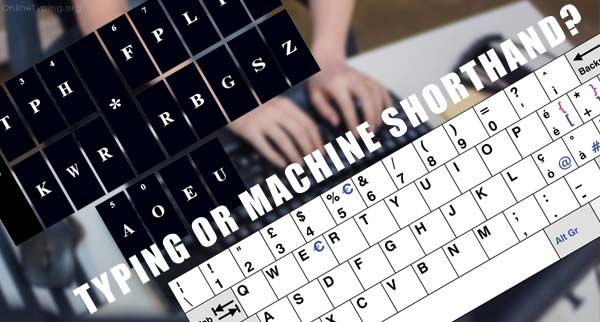 typing or machine shorthand